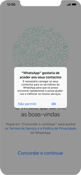 Apple iPhone XS Max - Aplicações - Como configurar o WhatsApp -  5