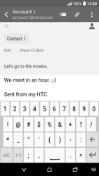 HTC Desire 530 - Email - Sending an email message - Step 10