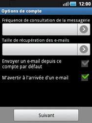 Samsung S5570 Galaxy Mini - E-mail - Configuration manuelle - Étape 11