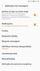 Samsung Galaxy A3 (2017) - SMS - Como configurar o centro de mensagens -  6
