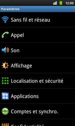 Samsung I9001 Galaxy S Plus - Wifi - configuration manuelle - Étape 3
