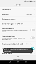 Huawei P9 - SMS - Como configurar o centro de mensagens -  8