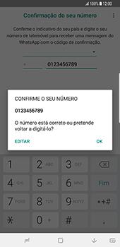 Samsung Galaxy S9 Plus - Aplicações - Como configurar o WhatsApp -  10