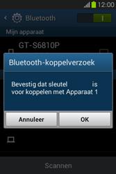 Samsung S6810P Galaxy Fame - Bluetooth - koppelen met ander apparaat - Stap 9