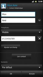 Sony Xpéria S - Contact, Appels, SMS/MMS - Ajouter un contact - Étape 10