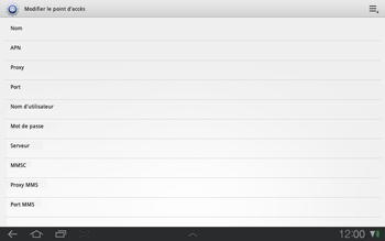 Samsung P7500 Galaxy Tab 10-1 - Internet - Configuration manuelle - Étape 7