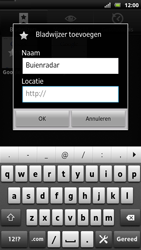Sony LT22i Xperia P - Internet - Hoe te internetten - Stap 8