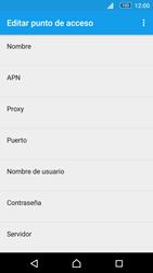 Sony Xperia M5 (E5603) - Mensajería - Configurar el equipo para mensajes multimedia - Paso 8