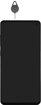 Samsung Galaxy S10e - Toestel - simkaart plaatsen - Stap 2