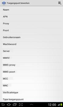 Samsung P3100 Galaxy Tab 2 7-0 - Internet - handmatig instellen - Stap 10