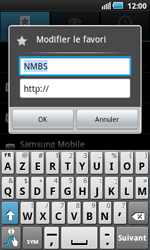 Samsung I5800 Galaxy Apollo - Internet - navigation sur Internet - Étape 9