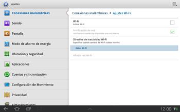 Samsung P7500 Galaxy Tab 10-1 - WiFi - Conectarse a una red WiFi - Paso 5