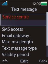 Sony W595 - SMS - Manual configuration - Step 6