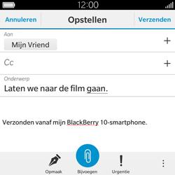 BlackBerry Classic - E-mail - Hoe te versturen - Stap 11