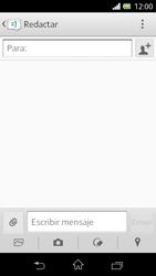 Sony Xperia L - Mensajería - Escribir y enviar un mensaje multimedia - Paso 5