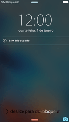 Apple iPhone iOS 9 - Funções básicas - Como reiniciar o aparelho - Etapa 4
