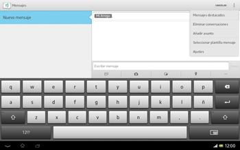 Sony Xperia Tablet Z - Mensajería - Escribir y enviar un mensaje multimedia - Paso 10