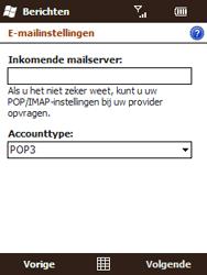 HTC T3333 Touch II - E-mail - Handmatig instellen - Stap 10