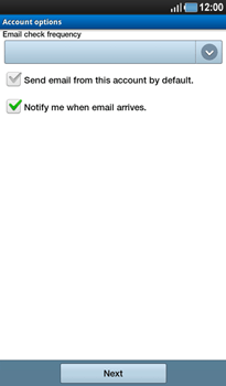 Samsung P1000 Galaxy Tab - E-mail - Manual configuration - Step 10