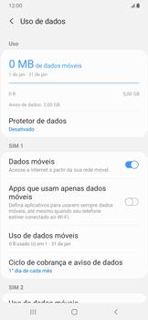 Samsung Galaxy A20 - Rede móvel - Como ativar e desativar uma rede de dados - Etapa 6