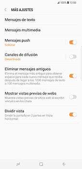 Samsung Galaxy S8 Plus - Mensajería - Configurar el equipo para mensajes de texto - Paso 7