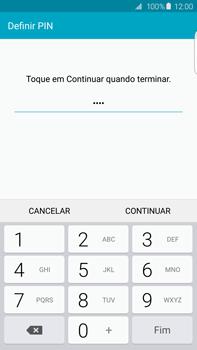 Samsung Galaxy S6 Edge + - Segurança - Como ativar o código de bloqueio do ecrã -  8