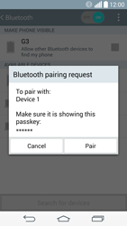 LG D855 G3 - Bluetooth - Pair with another device - Step 8