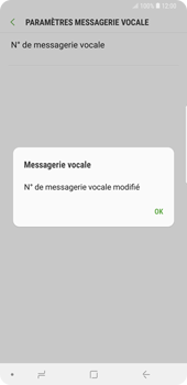 Samsung Galaxy Note9 - Messagerie vocale - Configuration manuelle - Étape 11