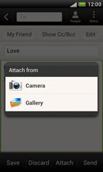 HTC T328e Desire X - E-mail - Sending emails - Step 11