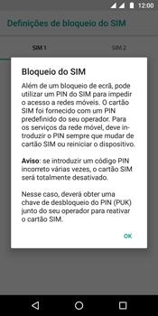 Motorola Moto G6 - Segurança - Como ativar o código PIN do cartão de telemóvel -  8