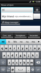 Sony Ericsson Xperia Neo V - E-mail - e-mail versturen - Stap 5