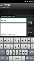 Sony Xperia J - Mensajería - Escribir y enviar un mensaje multimedia - Paso 12