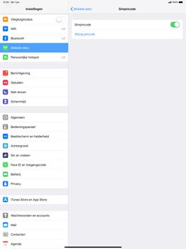 Apple ipad-pro-12-9-inch-2018-model-a1895 - Beveiliging en ouderlijk toezicht - Hoe wijzig ik mijn SIM PIN-code - Stap 12
