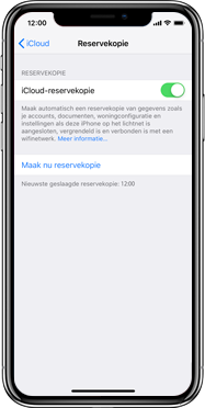 Apple iPhone X - Instellingen aanpassen - Back-up maken in je account - Stap 15