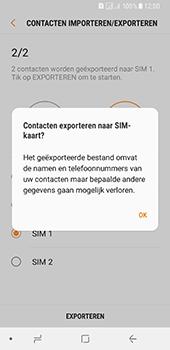 Samsung Galaxy A8 (2018) (SM-A530F) - Contacten en data - Contacten kopiëren van toestel naar SIM - Stap 13