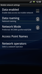 Sony Ericsson Xperia Ray - Network - Usage across the border - Step 6