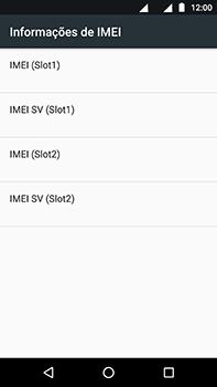 Motorola Moto Z2 Play - Primeiros passos - Como encontrar o número de IMEI do seu aparelho - Etapa 6