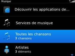 BlackBerry 9320 - Photos, vidéos, musique - Ecouter de la musique - Étape 5