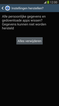 Samsung N9005 Galaxy Note III LTE - Instellingen aanpassen - Fabrieksinstellingen terugzetten - Stap 8