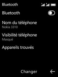 Nokia 3310 - Internet et connexion - Connexion avec un équipement multimédia via Bluetooth - Étape 7