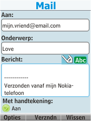 Nokia 206 Dual Sim - E-mail - Hoe te versturen - Stap 12