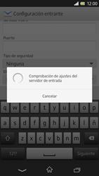 Sony Xperia Z - E-mail - Configurar correo electrónico - Paso 11