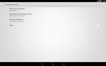 Sony Xperia Tablet Z2 (SGP521) - Messagerie vocale - configuration manuelle - Étape 7
