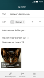 Huawei Y5 - E-mail - Bericht met attachment versturen - Stap 14