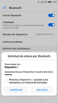 Huawei P10 Plus - Bluetooth - Conectar dispositivos a través de Bluetooth - Paso 6