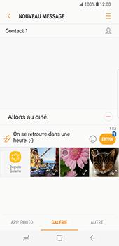 Samsung Galaxy S8 - Contact, Appels, SMS/MMS - Envoyer un MMS - Étape 13