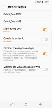 Samsung Galaxy S8 - SMS - Como configurar o centro de mensagens -  7