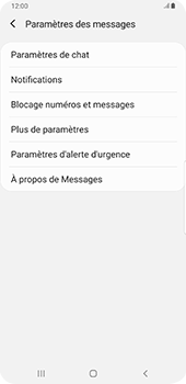 Samsung Galaxy S9 Plus - Android Pie - SMS - configuration manuelle - Étape 6