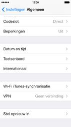 Apple iPhone 5c - Instellingen aanpassen - Fabrieksinstellingen terugzetten - Stap 4