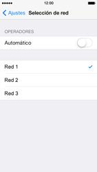 Apple iPhone 5s - Red - Seleccionar una red - Paso 7